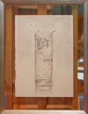 """Eiswürfel im Wasserglas """"Rahmen 30 cm x 40 cm"""""""