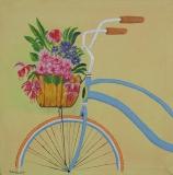 """Fahrrad mit Blumen """"40 cm x 40 cm"""""""