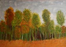 "A-26 ""Herbstwald"" 50 cm x 70 cm"