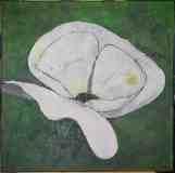 """""""weisse-Blume"""" 70 cm x 70 cm"""