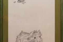 "Kirsche u. Meerschweinchen ""Rahmen 30 cm x 40 cm"""