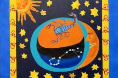 """Sternbild Skorpion"" 60 cm x 60 cm"