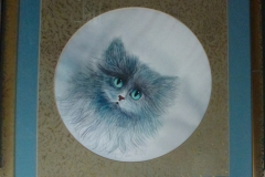 "S-02 ""Katze"" ""Rahmen 67 cm x 67 cm"""