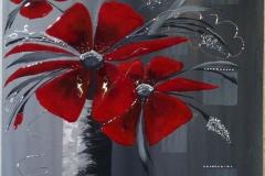 """""""große rote Blume"""" 60 cm x 60 cm"""