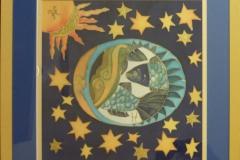 """Sternzeichen_Fisch """"Rahmen 60 cm x 60 cm"""""""